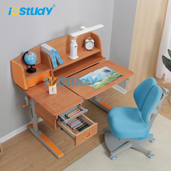 wooden study desk and chair