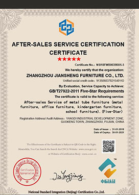 AFTER-SALES SERVICE CERTIFICATION CERTIFICATE